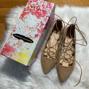 Chinese Laundry micro suede camel/us8-38.5